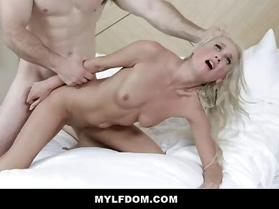 MYLFDOM - Servant Milf Gets Manhandled And Torn up Rock hard
