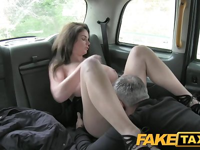 FakeTaxi Big bumpers and sexy eyes takes cock