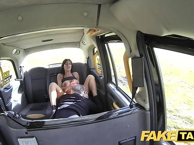 Fake Taxi Romp raging big-chested cock loving naughty brunette