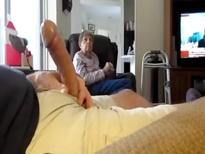 displaying cock to wifes mummy