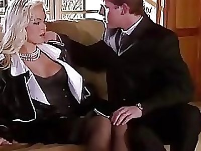 Silvia Saint Fucks get under one's Lawyer and Drains His Jizz